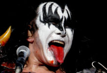Picture of Gene Simmons from the Kiss band by Maryland music photographer Carol Fisher