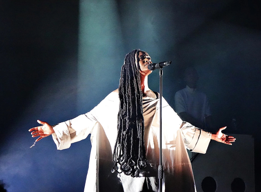 Picture of Kelela by England music photographer Linda Brindley