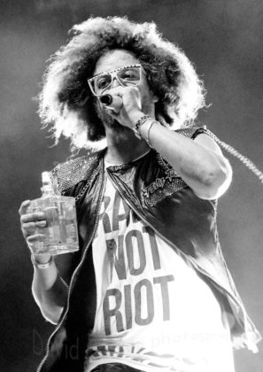 Image of Redfoo and the party crew at Porec Rise up festival by Croatian Music and Pit photographer David Gasson